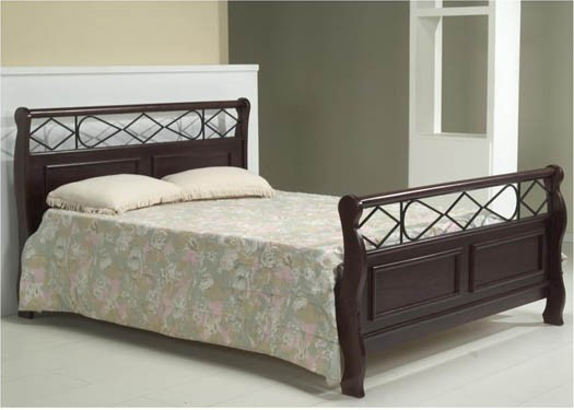 Palm Solid Wood Bed