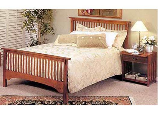 Megan Solid Wood Bed