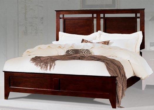 Swirl Sheesham Wood Bed