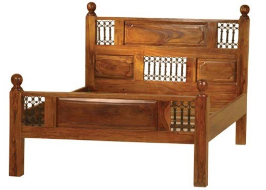 Swirl Solid Wood Bed