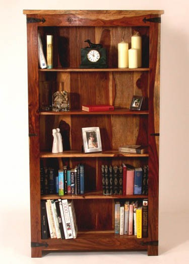 Siramika Solid Wood Book Shelf in Honey Oak Finish