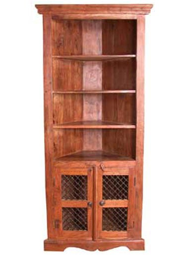 Essex Solid Sheesham Wood cornor Book Shelf
