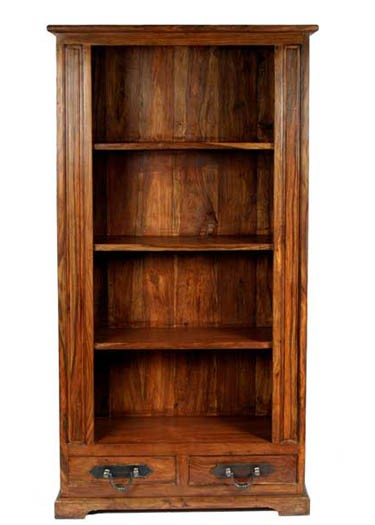 Harleston Solid Wood Book Shelf in Honey