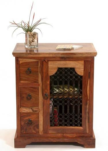 Galla Sheesham Wood Kitchen Cabinet