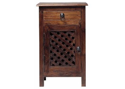 Home Furniture Dark Wood Nightstand Bedside