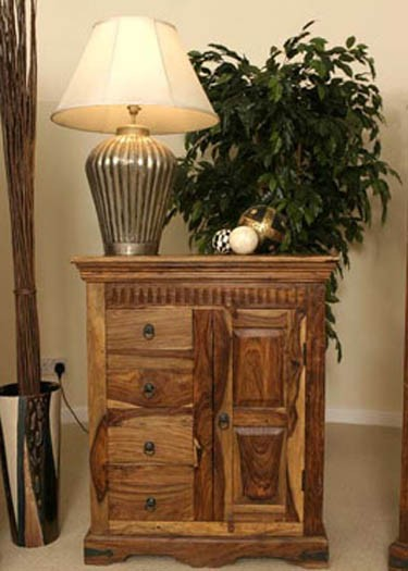 Warrican Solid Sheesham Wood Cabinet cornor