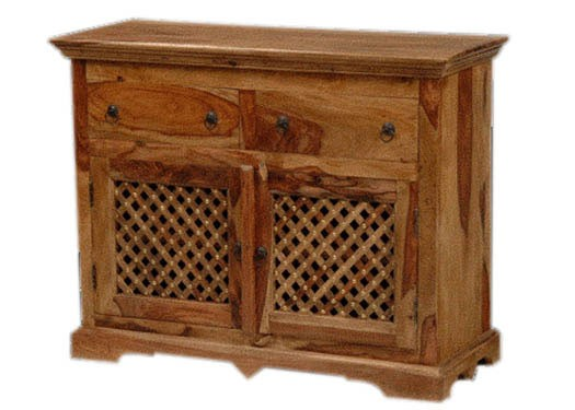 Emboss Solid Wood Tv Unit