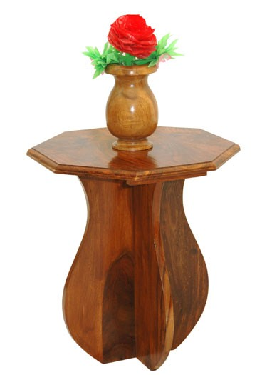 Multicolour Solid Wood Vase