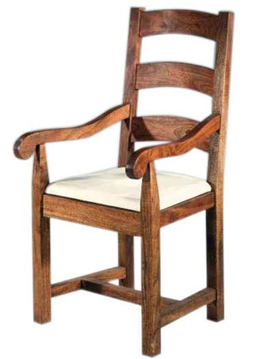 Aura Solid Sheesham Wood Armchair