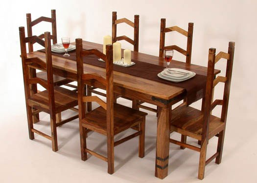 Dewey Extendable Sheesham Wood Dining Table