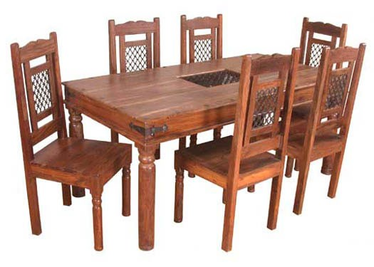 Cambrey 6 Sheesham Wood Seater Dining Table