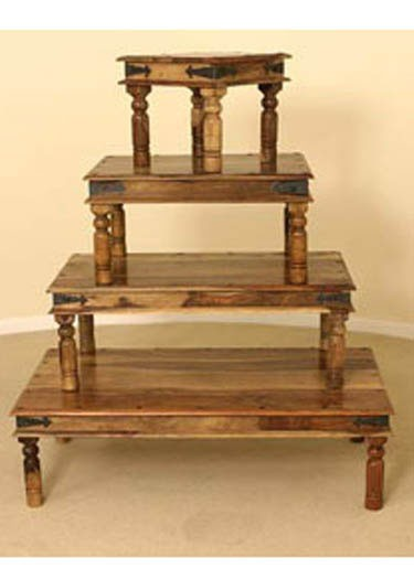 Anitz Solid Wood Nest of Tables Set Of Four