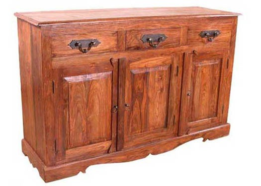 Vayaka Solid Wood Sideboard in Honey