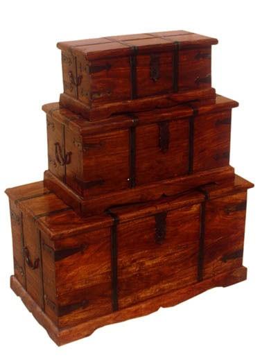 Tuskar Solidwood Storage Box Set of three