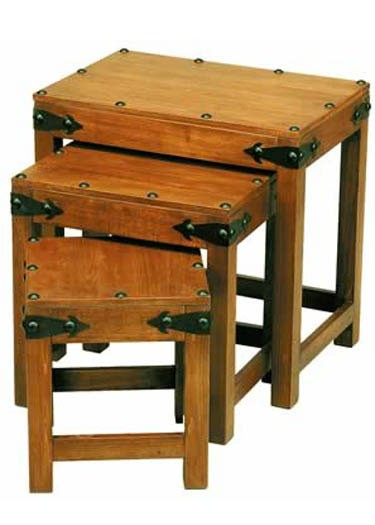 Oriel Solid Wood Nest of Tables