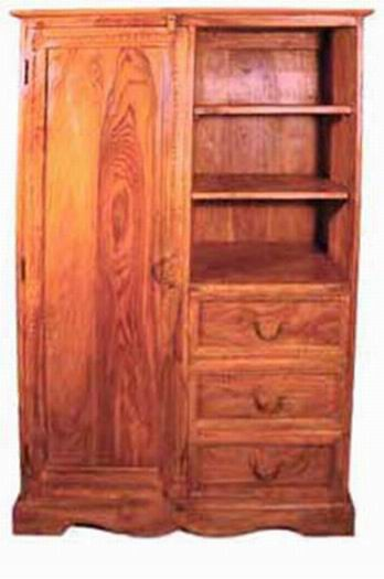 Adolph Solid Wood Hutch Cabinet