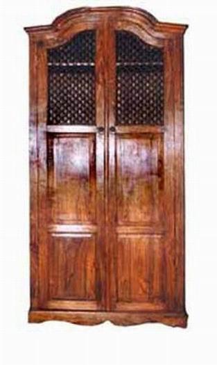 Boho Solid Wood Hutch Cabinet