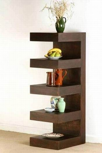 Acropolis Solid Wood Book Shelf