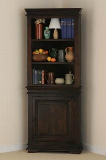 Solid Wood Adolph Hutch Cabinet Cornor