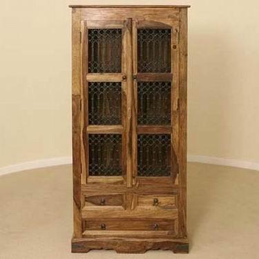 Crestor Solid Sheesham Wood Kitchen Cabinet