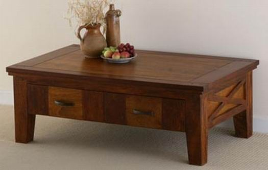 Adolph Solid Wood Coffee Table