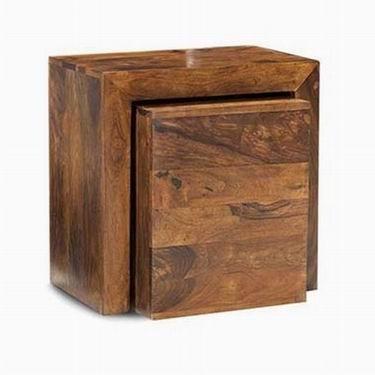 Trestle Solid Acacia Sheesham Wood Cabinet