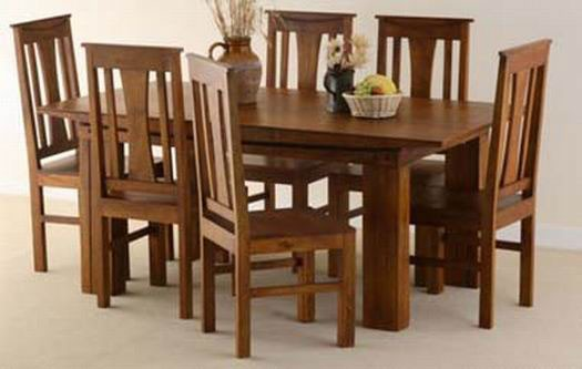 Tim Extendable Solide Sheesham Wood Dining Table