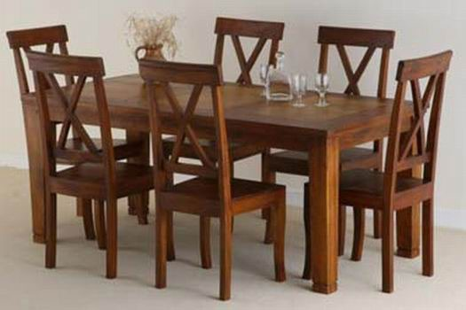 Mcbeth Sheesham Wood Dining Table