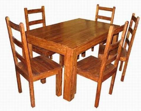 Mcbeth Solide Sheesham Wood Dining Table