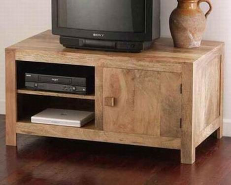 Vincent Solide Sheesham Wood Multi-Functional Tv Unit