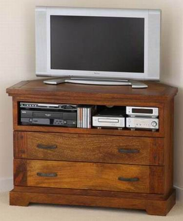 Alanzo Solid Wood Tv Unit