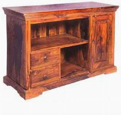 Natalia Solid Sheesham Wood Tv Unit