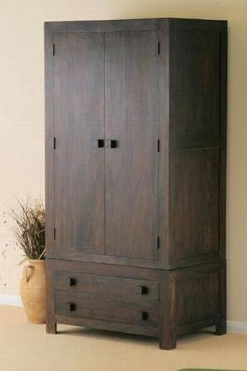 Walton Solid Wood 2 Door Wardrobe in Provincial
