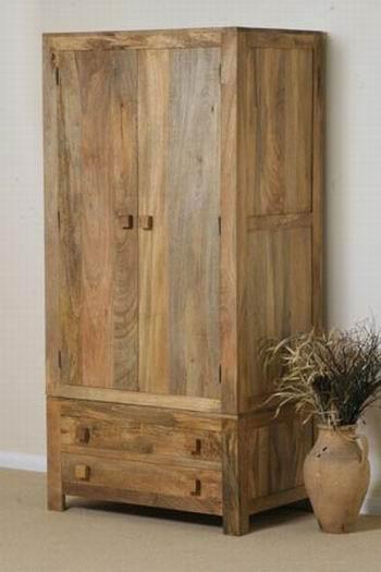Avilys Solid Wood 2 Door Wardrobe in Provincial