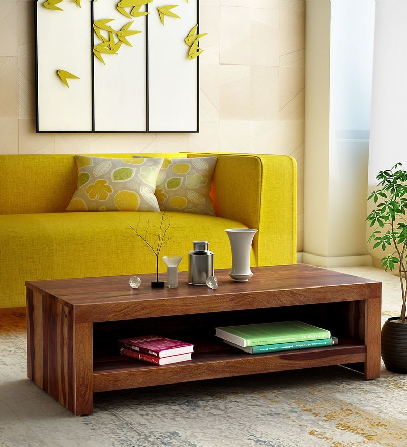 Hammond Solid Wood Coffee Table in Provincial Teak Finish