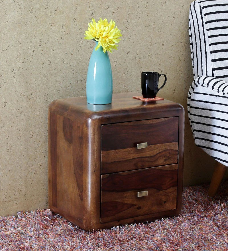 Cambrey Bed Jeane Solid Wood Bedside Chest in Provincial Teak Finish