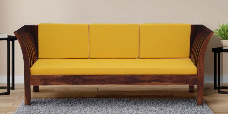 Raiden 3 Seater Sofa in Honey Oak Finish