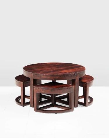 Mason Nest Sheesham Wood Round Table Set