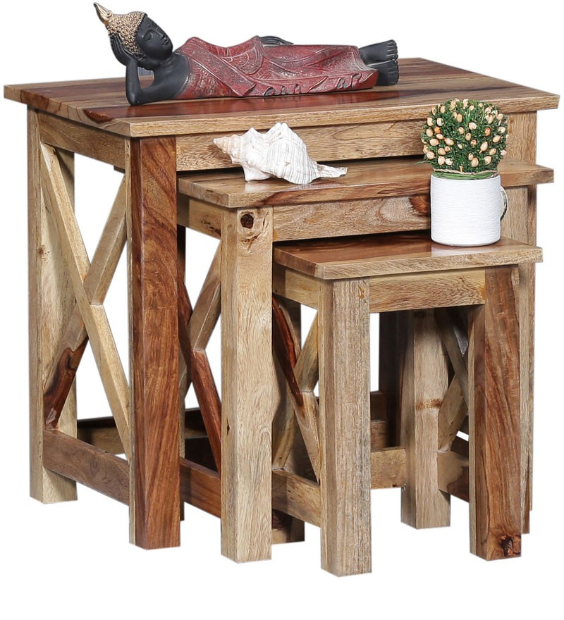 Oriel Solid Sheesham Wood Nest of Tables