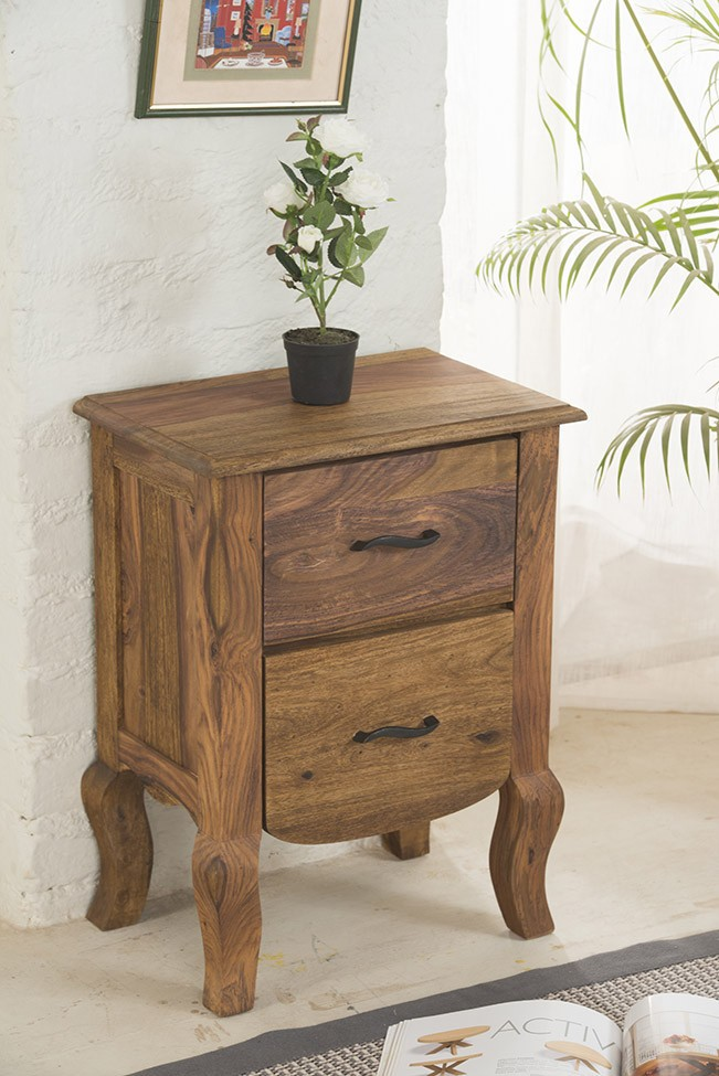 Solid Wood Bed Side Table