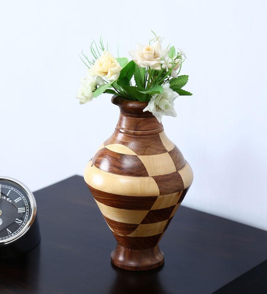 Sheesham Wood Vase