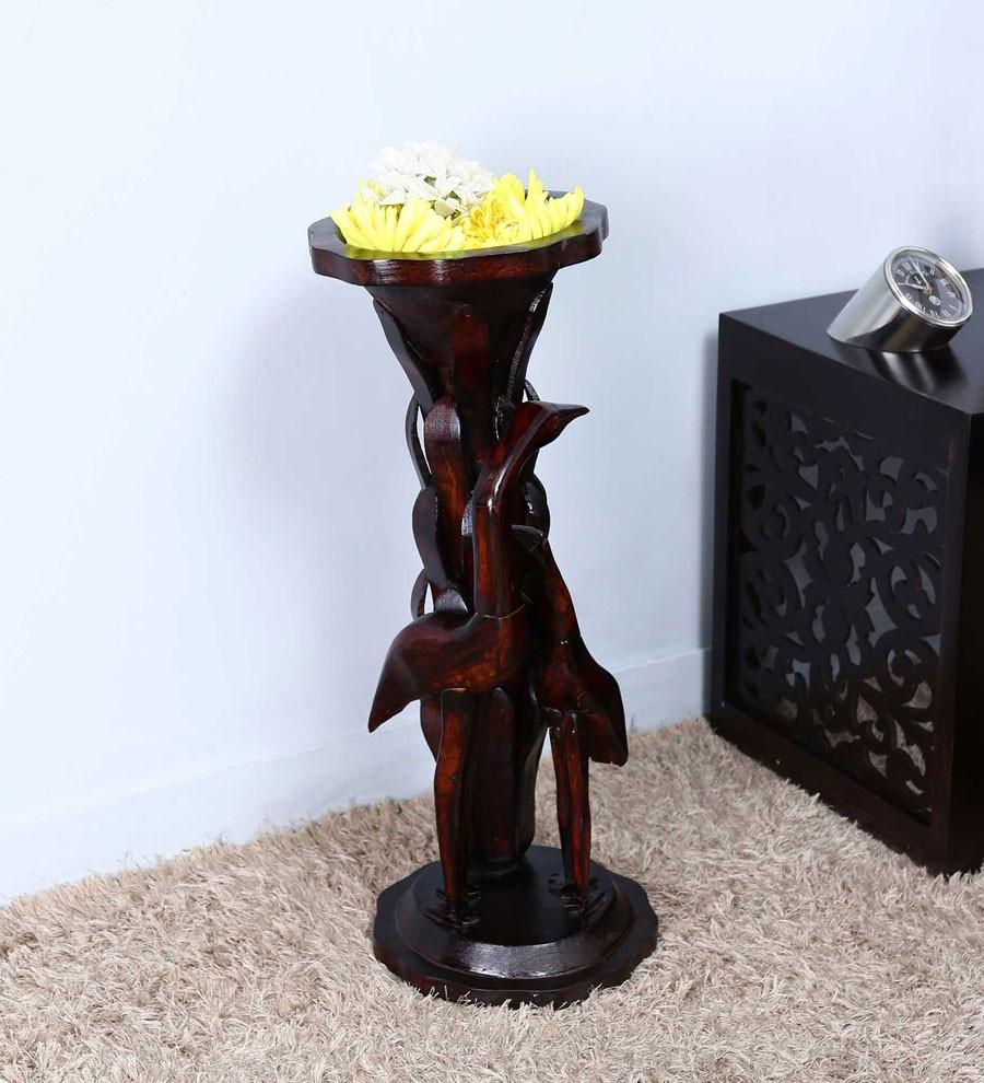 Wooden Imprint Bottle Vase