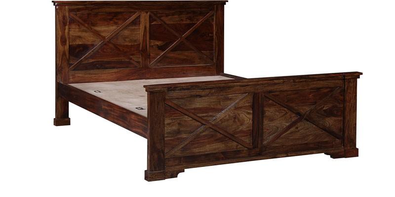 King Sheesham Wood Bed