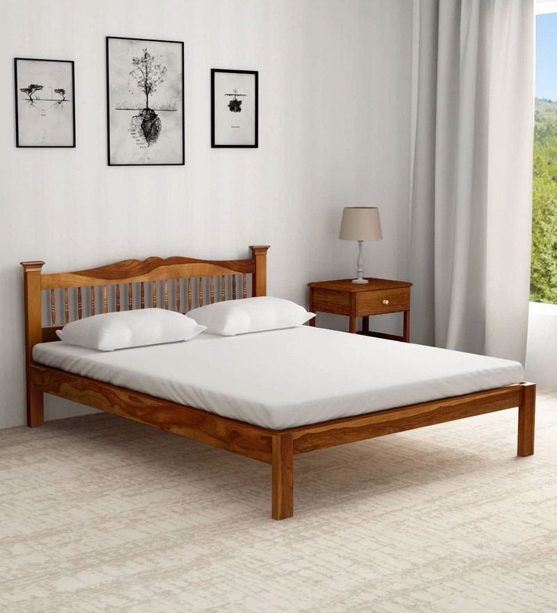 Morse Solid Wood Queen Size Bed In, Solid Wood Queen Bed