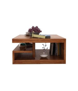 Naoshi Wood Center Coffee Table for Living Room Bedroom | Cocktail Table | Wooden Tea Table | Furniture for Home | Contemporary Design (Brown)