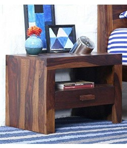 LynetBed Wood Bedside Table