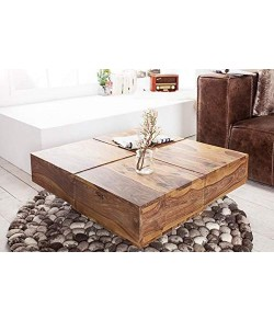 Vesta Wood Wooden Center Table for Living Room | Coffee Table