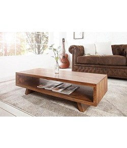Adolph Wood Bicca Coffee Table for Living Room | Center Table | Natural Brown Finish