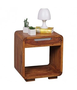 Cambrey Bed Sheesham Wooden Bedside End Table