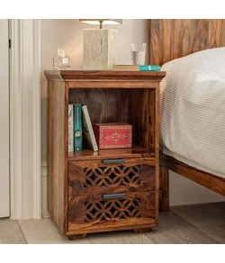 Persia Bed Side Cabinet (Natural Honey Finish)